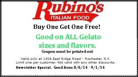 Gelato Coupon buy 1 get 1 free