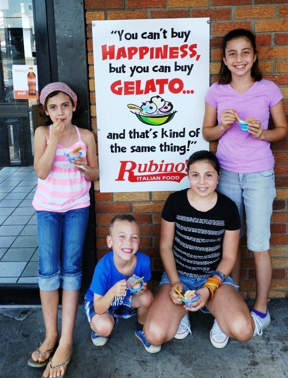 Kids in front of Gelato Sign1